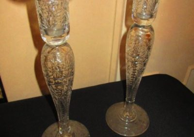 Pair of Hawkes Candlesticks