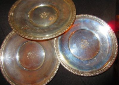 Group of large Sterling dishes
