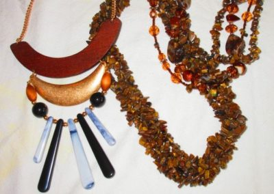 Costume and gemstone necklaces