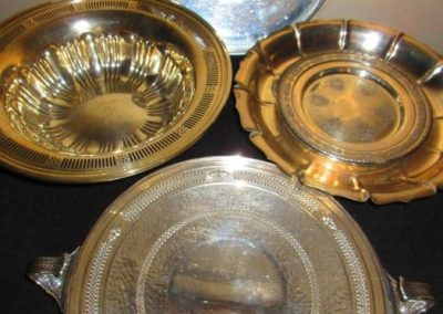 Large Sterling dishes and bowls