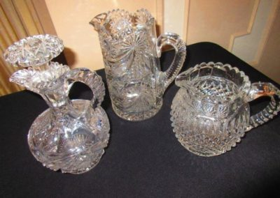Antique brilliant-cut crystal jugs and decanters