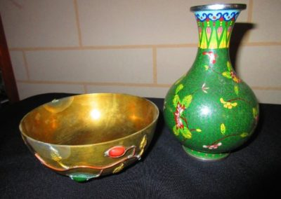 Chinese bowl and vase