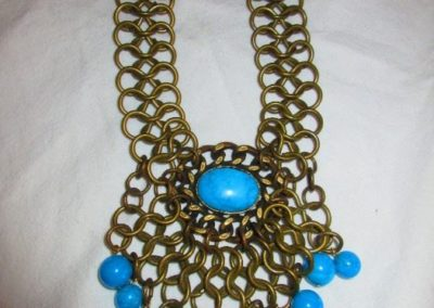 Brass and ceramic necklace