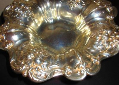 Large Sterling footed bowl