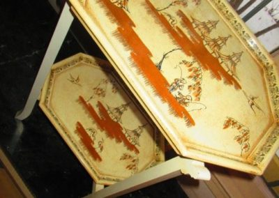 Two tier chinoiserie table