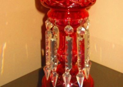 Ruby glass lustre