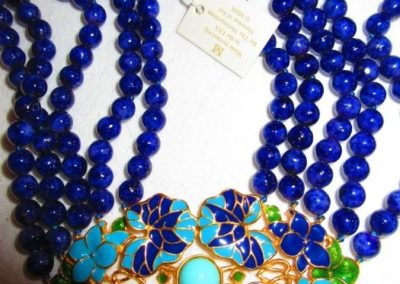 Enamel and gemstone necklace from the Met