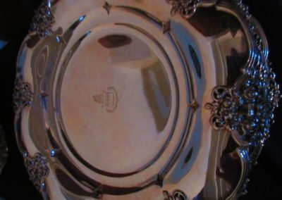 Group of Sterling dinner plates by Tiffany and company