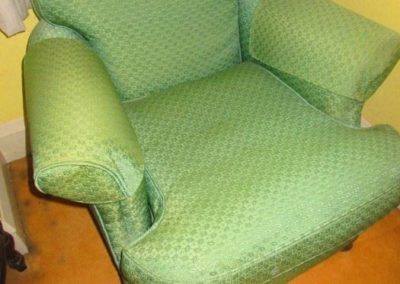 1940's armchair with the original textile