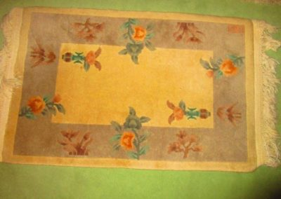 Carved Chinese rug