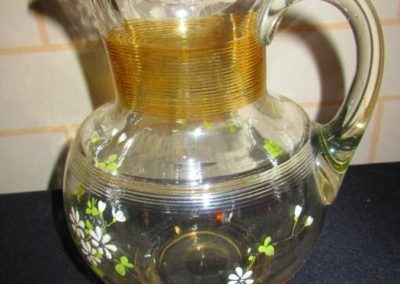 Enameled Victorian pitcher