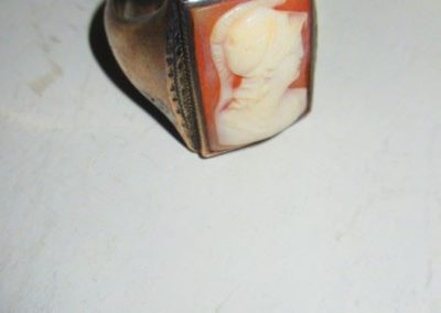 Cameo ring set in Sterling