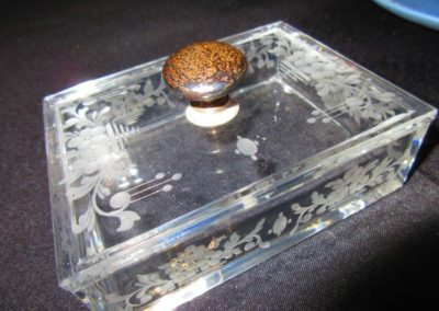 Etched box with Sterling knob