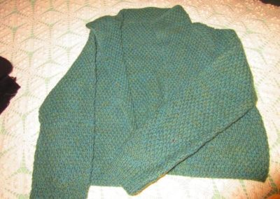 Hand-knit 1950s sweater