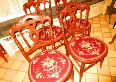 Group of Victorian side chairs