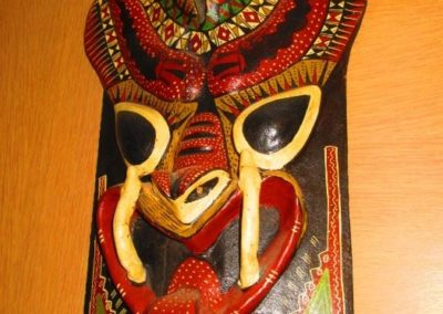 Ethnographic hand carved mask