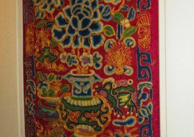 Framed Chinese silk
