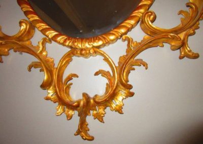 Detail of Chinese Chippendale mirror