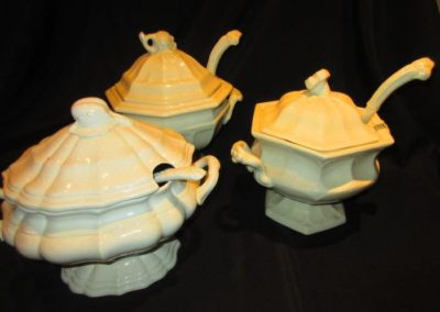 Group of ironstone tureens including Red Cliff