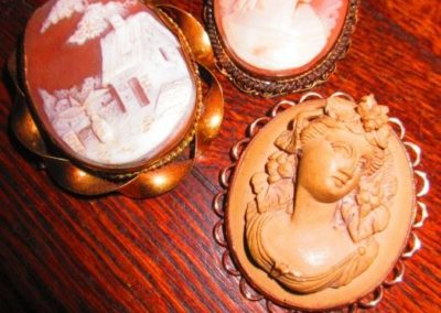 Group of antique Cameo pins