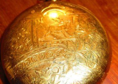14 karat gold filled pocket watch