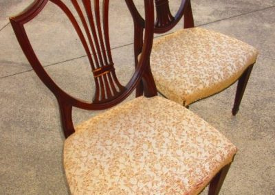 Pair of 1940 shield back chairs