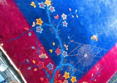 Detail of antique Nichols & sons rug