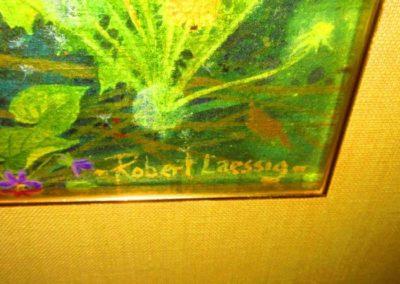 Signature on Robert Laessig watercolor