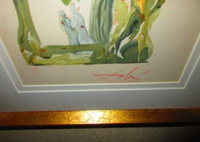 Signature on Salvador Dali