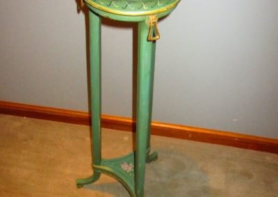 Hand-painted plant stand after the antique