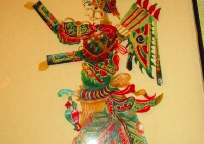 Ethnographic vellum puppet