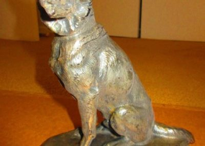 Spelter statue German Shepherd
