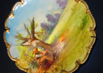 Hand-painted pictorial porcelain plate common 19th century Austria