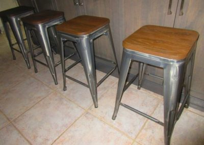 Group of 4 industrial stools