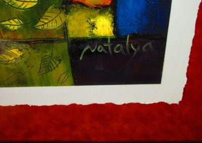 Signature on contemporary still Life paintings by Natalya