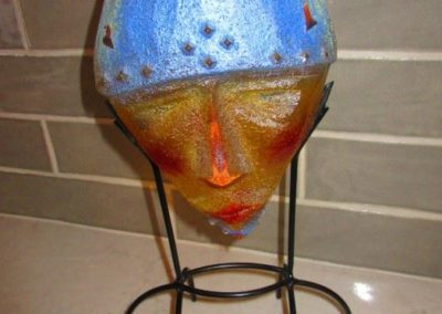 Sand cast glass mask