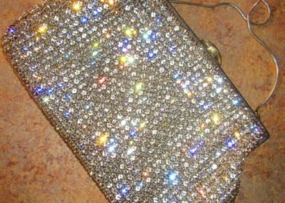 Rhinestone to evening bag