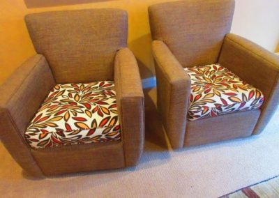 Pair of crate & barrel accent chairs