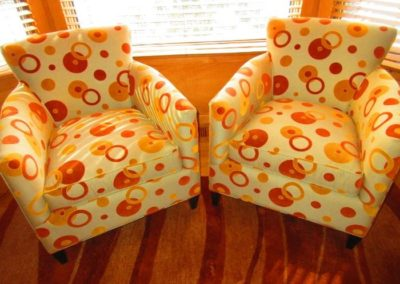 Pair of contemporary crate & barrel accent chairs
