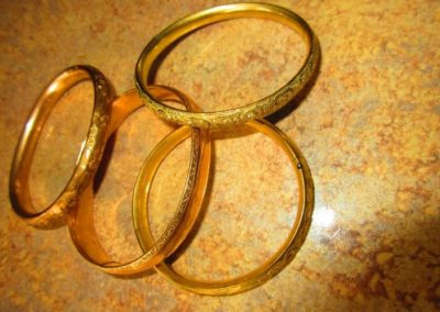 Group of antique gold filled Bangles
