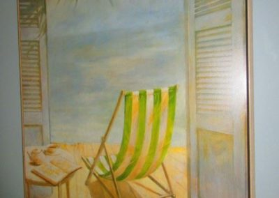 Seaside print on canvas