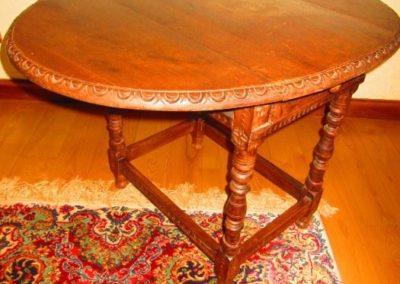 Jacobean style diminutive drop leaf table