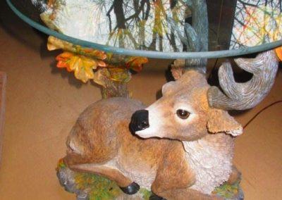 Resin deer table