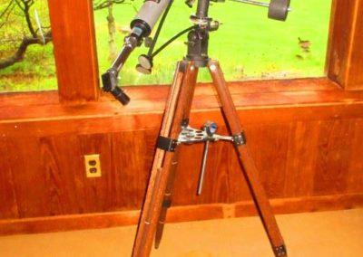 Telescope on stand
