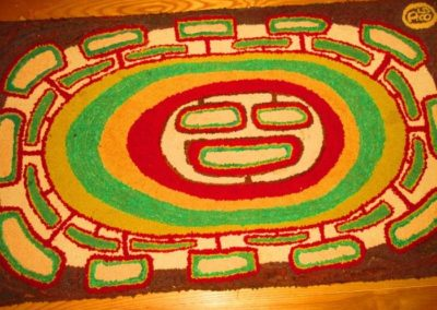 A wonderful example of a hooked rug