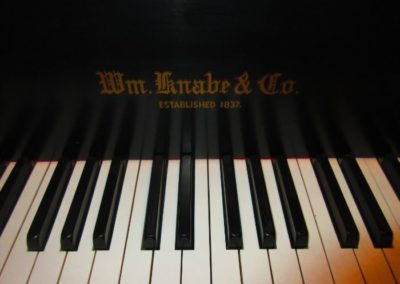 Detail of William Knobe and Company baby grand