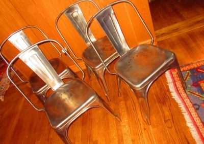 Group of industrial chairs