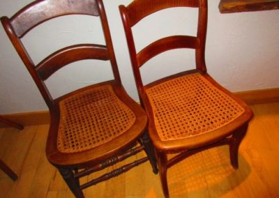 An example of many of the antique individual side chairs you will find