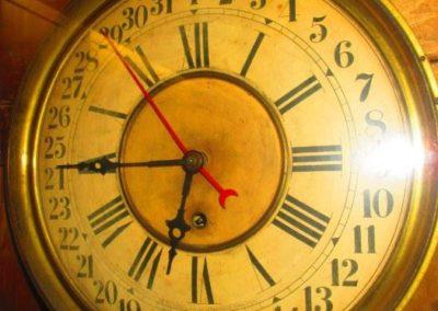 Detail of Eclipse Regulator wall clock