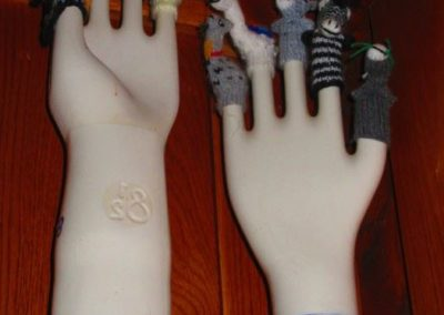 Porcelain glove molds and finger puppets